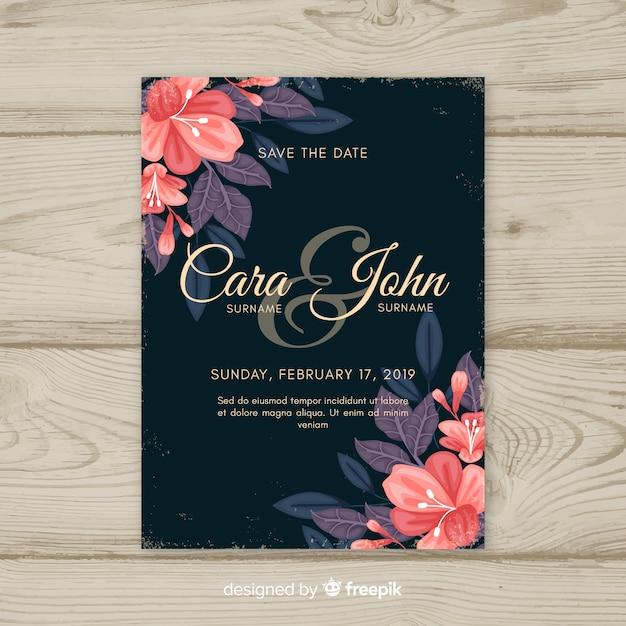 Hochzeit kartenvorlage Kostenlosen Vektoren