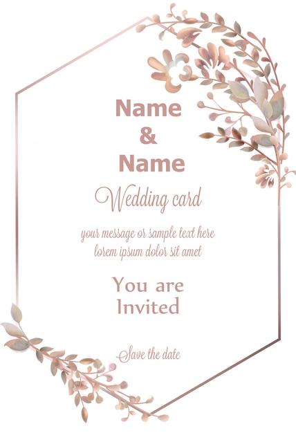 Hochzeit kranz aquarell Premium Vektoren