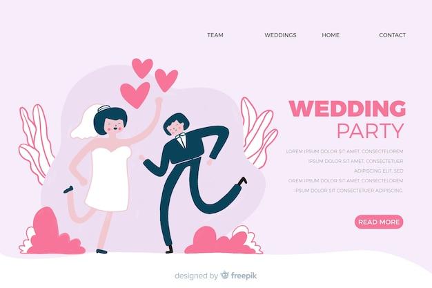 Hochzeit landing page Kostenlosen Vektoren