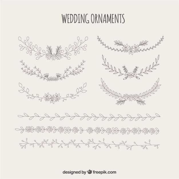 Hochzeit Ornamente Aus Blumen Download Der Kostenlosen Vektor