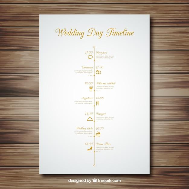 Hochzeit Timeline Download Der Kostenlosen Vektor