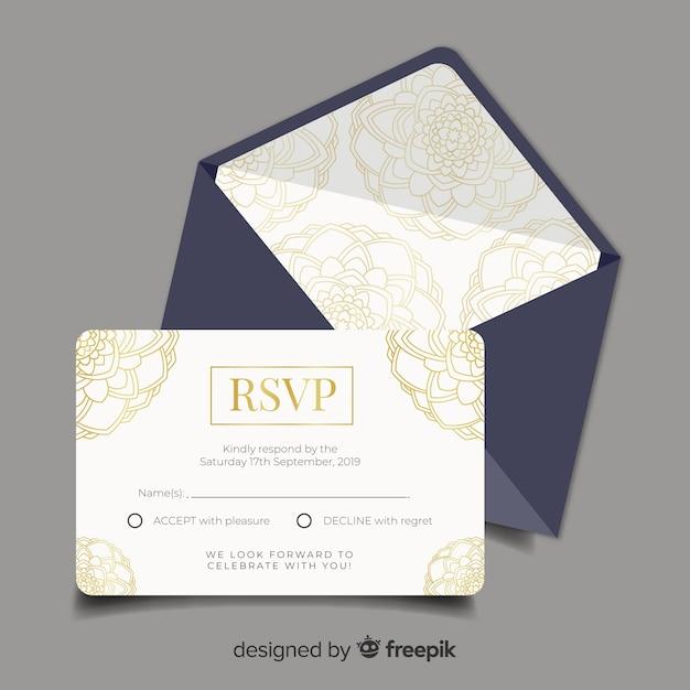Hochzeit-uawgkarte Kostenlosen Vektoren