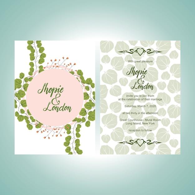 Hochzeits-Einladungs-Gruß-Karten-Schablone Elegantes Blumen ...