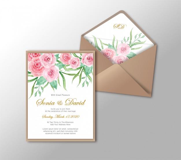 Hochzeits-einladungs-karten-briefpapier-gold Premium Vektoren