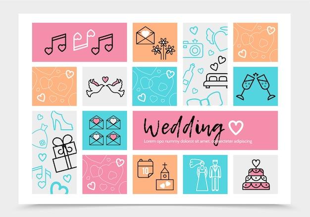 Hochzeits-infografik-vorlage Kostenlosen Vektoren