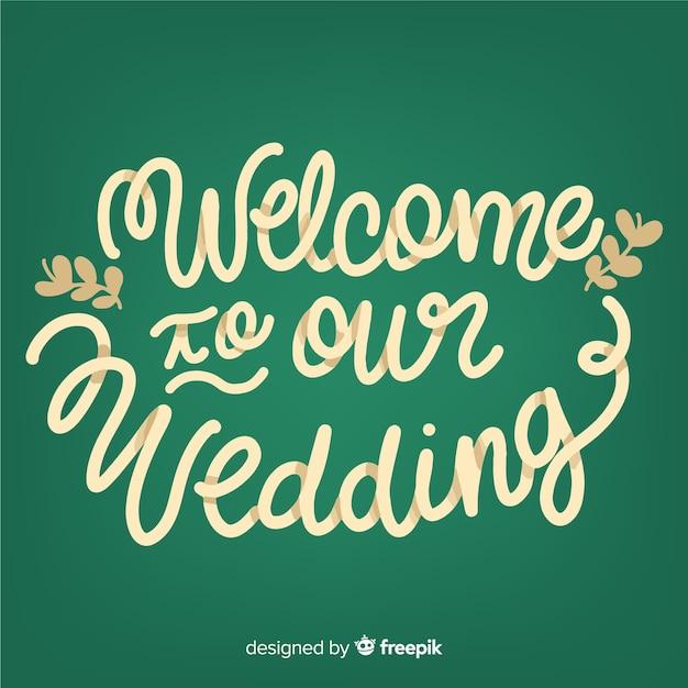 Hochzeits-schriftzug Kostenlosen Vektoren