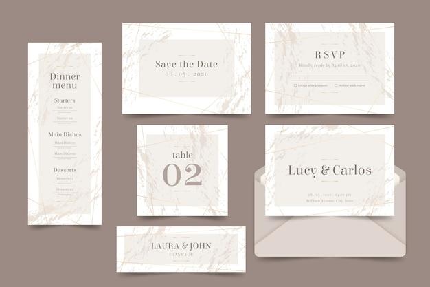 Hochzeitsbriefpapier Kostenlosen Vektoren