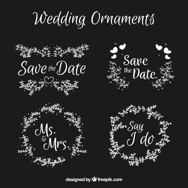 Hochzeitsdekoration mit tafelstil Kostenlosen Vektoren