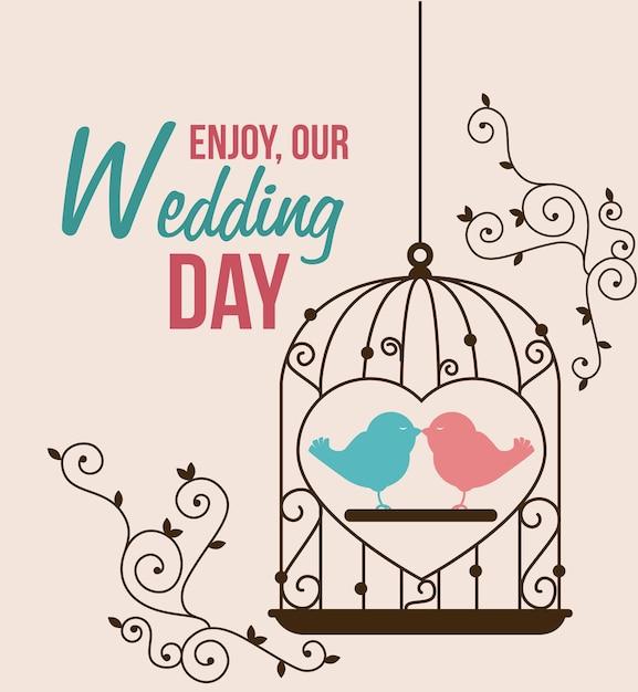 Hochzeitsdesign Premium Vektoren