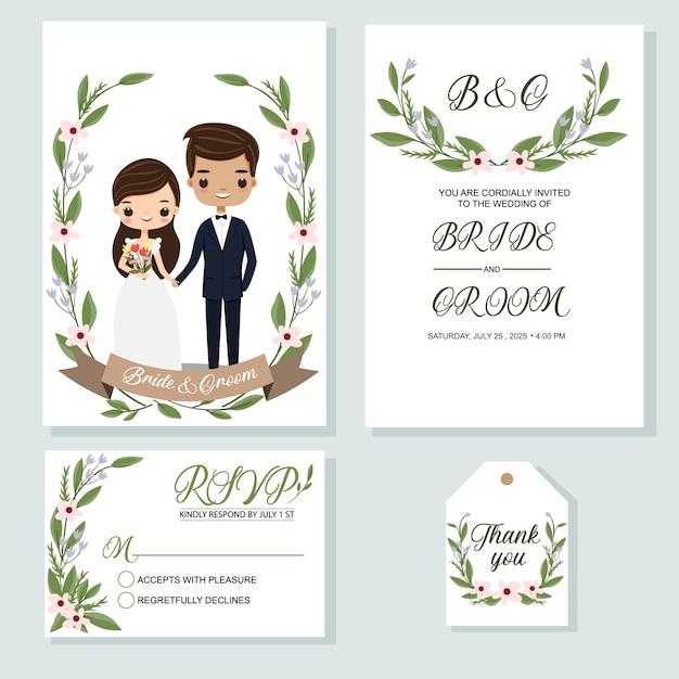 Hochzeitseinladung Premium Vektoren