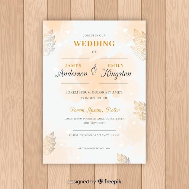 Hochzeitseinladung Kostenlosen Vektoren