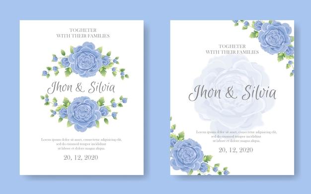 Hochzeitseinladungskarte Premium Vektoren