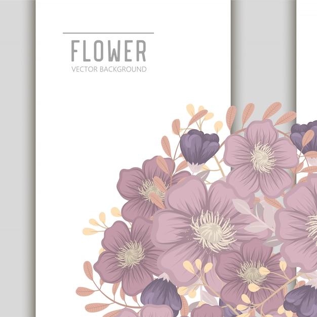 Hochzeitseinladungskartensuite mit blume schablone Premium Vektoren