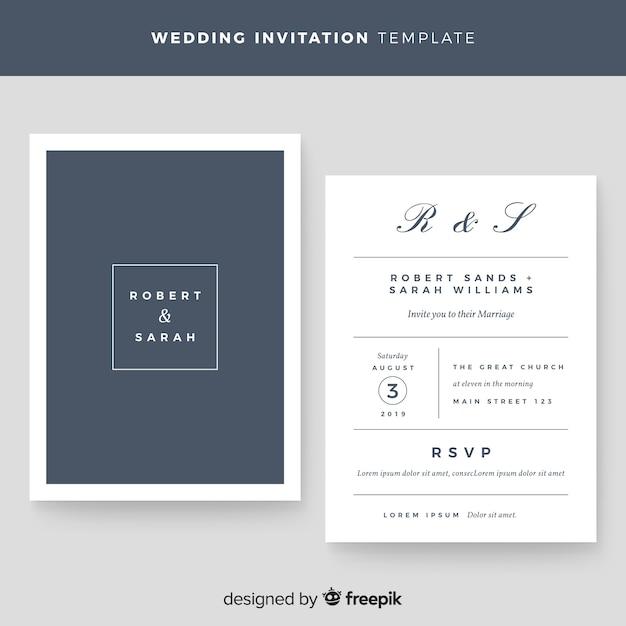Hochzeitseinladungsschablone Kostenlosen Vektoren