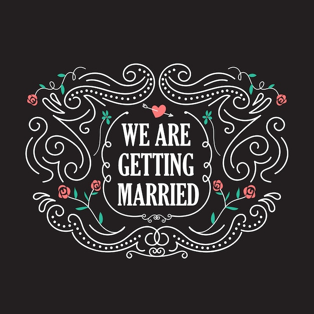 Hochzeitseinladungsschablonen mit blumenweinleserahmenvektor Premium Vektoren