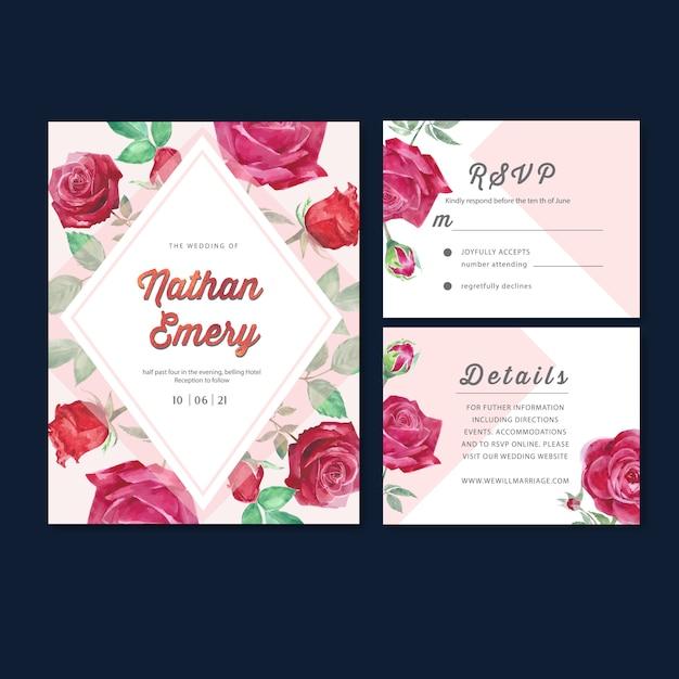 Hochzeitsempfang-blumen mit pastellblatt Kostenlosen Vektoren