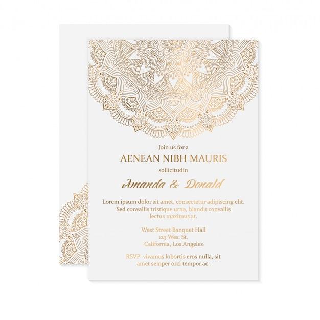 Hochzeitskarte Premium Vektoren