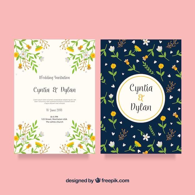 Hochzeitskarten Vorlage Download Der Kostenlosen Vektor