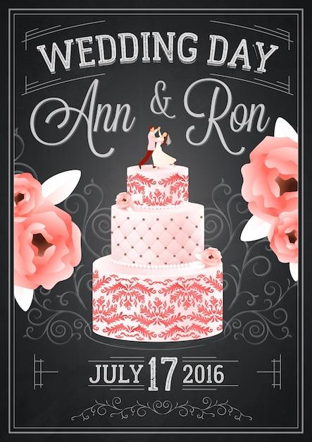Hochzeitstafel-plakat Kostenlosen Vektoren