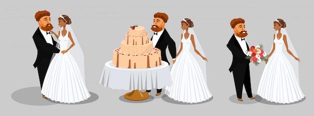 Hochzeitszeremonie Premium Vektoren