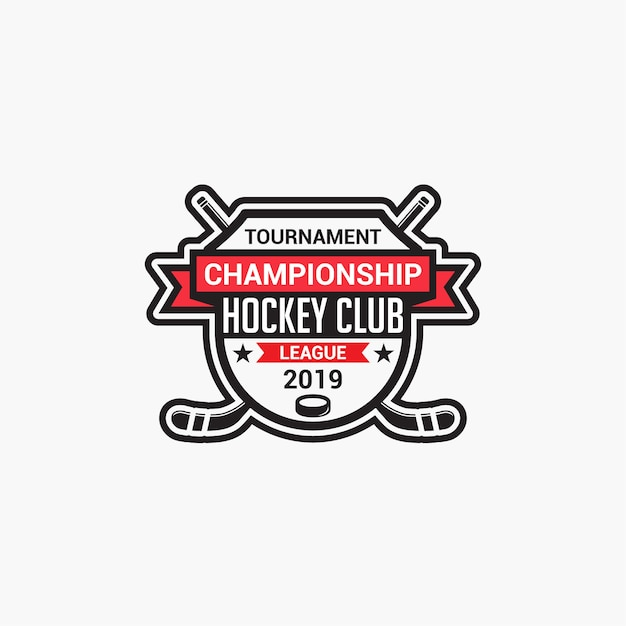 Hockey-club-logo Premium Vektoren
