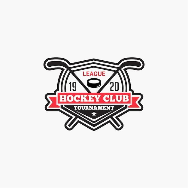 Hockey-club-logo Premium Vektoren