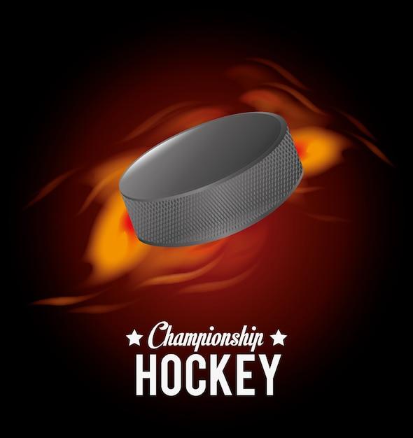 Hockey-design Premium Vektoren