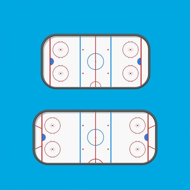 Hockey-eisbahnen Premium Vektoren
