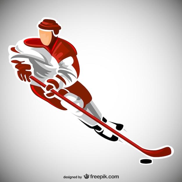 Hockey-sport-spieler Kostenlosen Vektoren