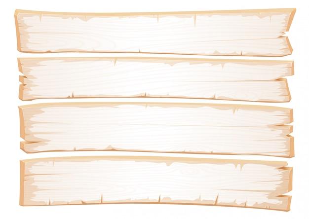 Hölzerne weiße beschaffenheit des vektors. alte planken aus schäbigem holz. Premium Vektoren