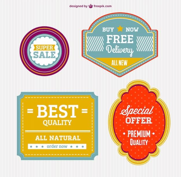 Hohe qualität kostenlos abzeichen Kostenlosen Vektoren