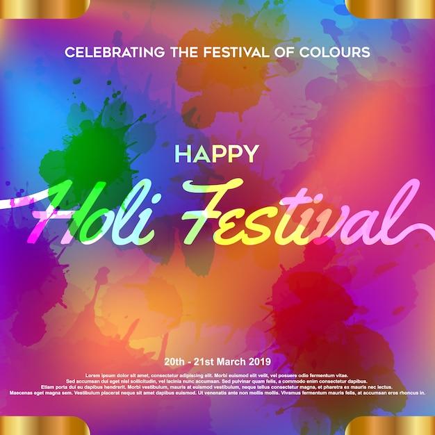 Holi festival hintergrund Premium Vektoren