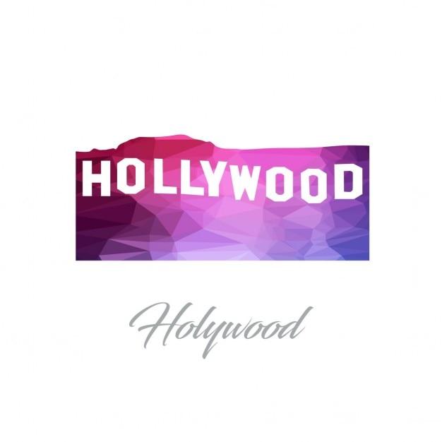 Hollywood polygon Kostenlosen Vektoren