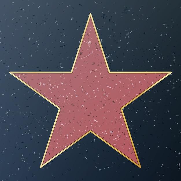 Hollywood walk of fame Premium Vektoren