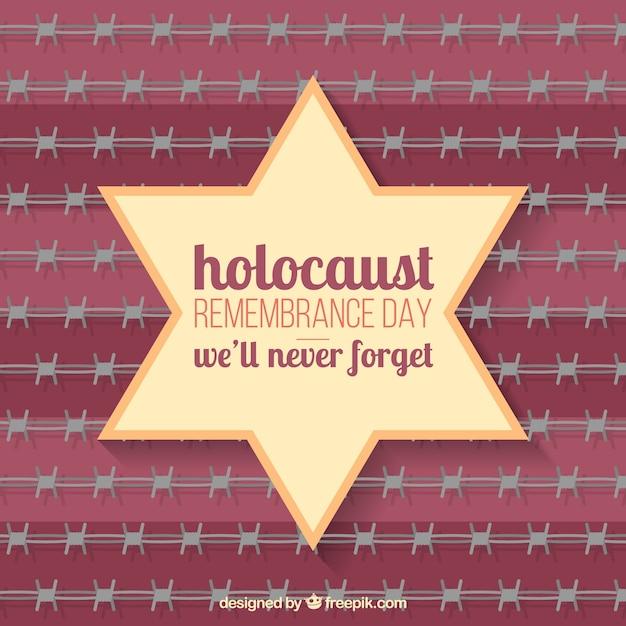 Holocaust Gedenktag Stern Auf Rotem Hintergrund Download Der