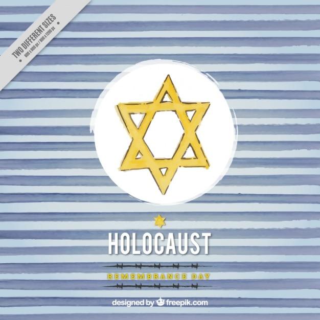 Holocaust-gedenktag, von hand gezeichnet hintergrund Kostenlosen Vektoren