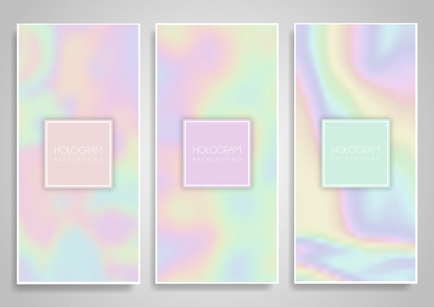 Hologramm-banner-designs Kostenlosen Vektoren