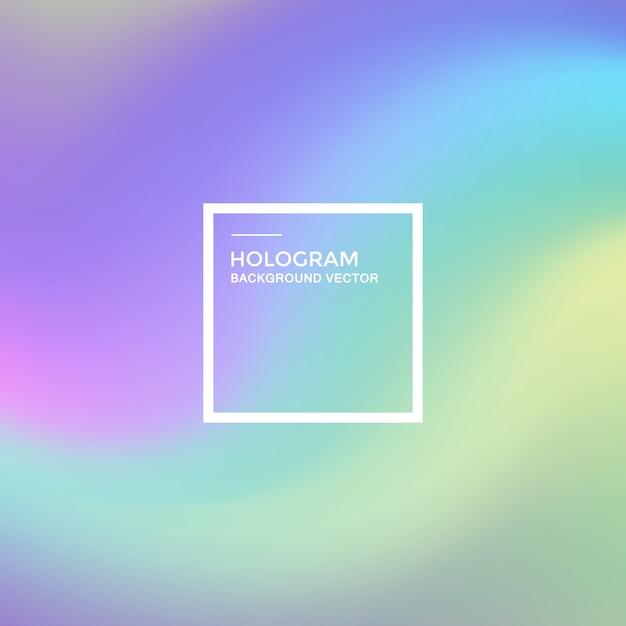 Hologramm hintergrund mit farbverlauf Premium Vektoren