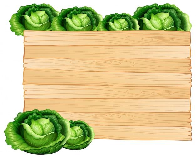 Holzbrett und kohl Kostenlosen Vektoren