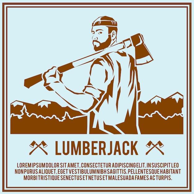 Holzfäller-holzfäller-plakat Kostenlosen Vektoren