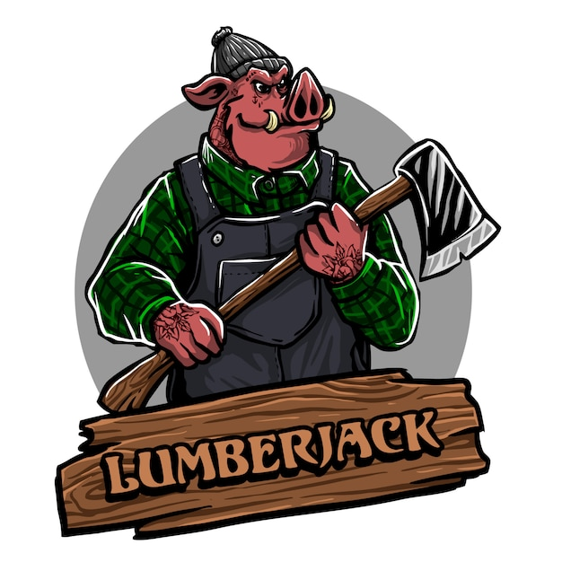 Holzfäller Premium Vektoren