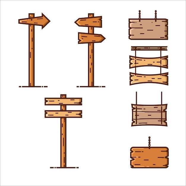 Holzschild mbe-stil Premium Vektoren