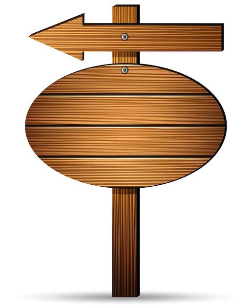 Holzschildbrett auf einem weißen hintergrund Premium Vektoren