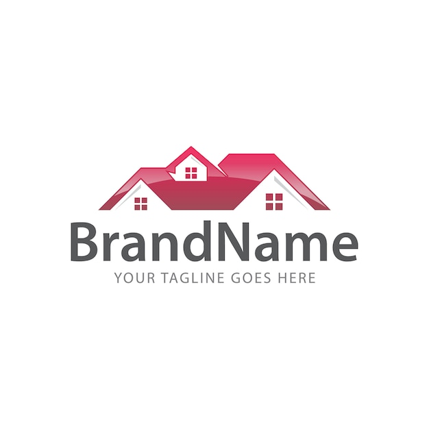 Home dach logo Premium Vektoren