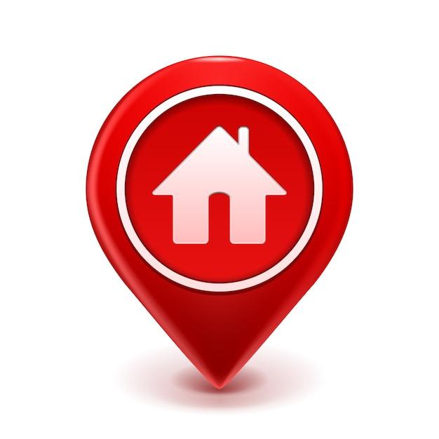 Home icon pin deal. isoliert auf weiß Kostenlosen Vektoren