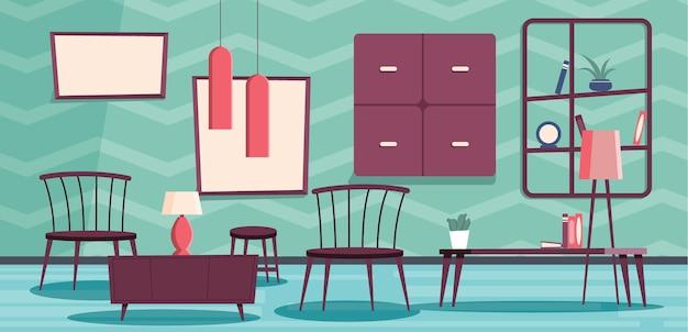 Home interior hintergrund videokonferenz Kostenlosen Vektoren