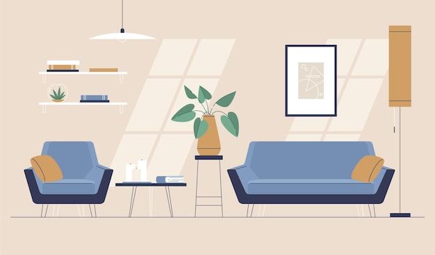 Home interior hintergrundkonzept Kostenlosen Vektoren