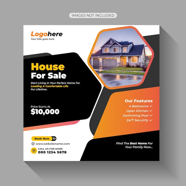 Home sale social media post Premium Vektoren