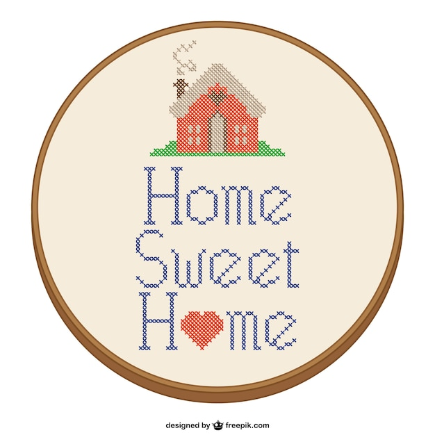 Home sweet home kreuzstich design download der kostenlosen vektor - Home sweet home designs ...