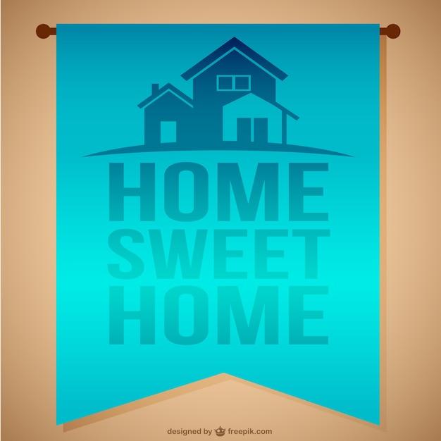 Home sweet home nachricht Kostenlosen Vektoren